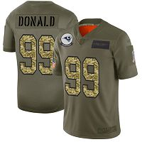 Los Angeles Rams #99 Aaron Donald Olive/Camo Men's Stitched NFL Limited 2019 Salute To Service Jersey