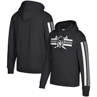 Oakland Raiders Mitchell & Ness Three Stripe NFL Pullover HoodieBlack NFL Pullover Hoodie