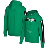 Philadelphia Eagles Mitchell & Ness Three Stripe NFL Pullover HoodieGreen NFL Pullover Hoodie