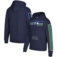 Seattle Seahawks Mitchell & Ness Three Stripe NFL Pullover HoodieCollege Navy NFL Pullover Hoodie