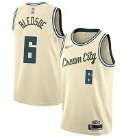 Milwaukee Bucks #6 Eric Bledsoe Cream NBA Swingman City Edition 2019/20 Jersey