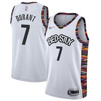 Brooklyn Nets #7 Kevin Durant White NBA Swingman City Edition 2019/20 Jersey