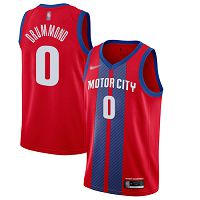 Detroit Pistons #0 Andre Drummond Red NBA Swingman City Edition 2019/20 Jersey