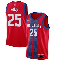 Detroit Pistons #25 Derrick Rose Red NBA Swingman City Edition 2019/20 Jersey
