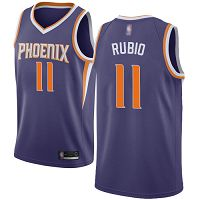 Phoenix Suns #11 Ricky Rubio Purple NBA Swingman Icon Edition Jersey