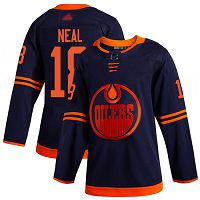 Edmonton Oilers #18 James Neal Navy Alternate Stitched Hockey Jersey