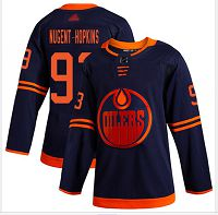 Edmonton Oilers #93 Ryan Nugent-Hopkins Navy Alternate Stitched Hockey Jersey