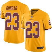 Washington Redskins #23 Quinton Dunbar Gold Men's Stitched NFL Limited Rush Jersey