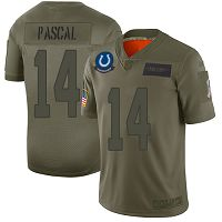 Men's Nike Indianapolis Colts #14 Zach Pascal Limited NFL Camo 2019 Salute to Service Jersey