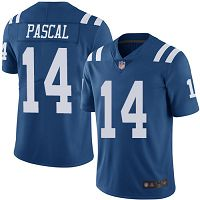 Men's Nike Indianapolis Colts #14 Zach Pascal Limited NFL Royal Blue Rush Vapor Untouchable Jersey