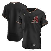 Men's Arizona Diamondbacks Nike Blank Black Alternate 2020 Team Jersey