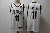 Men's Nike Brooklyn Nets #11 Kyrie Irving 2019-20 White City Jersey
