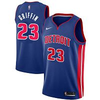 Men's Nike Detroit Pistons #23 Blake Griffin 2019-20 City Edition Blue Jersey