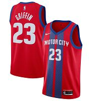 Men's Nike Detroit Pistons #23 Blake Griffin 2019-20 City Edition Red Jersey