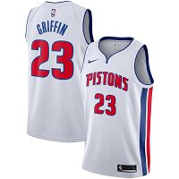 Men's Nike Detroit Pistons #23 Blake Griffin 2019-20 City Edition White Jersey