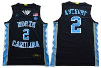 North Carolina #2 Cole Anthony Black Basketball Stitched NCAA Jersey