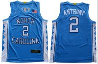North Carolina #2 Cole Anthony Blue Basketball Stitched NCAA Jersey