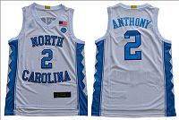 North Carolina #2 Cole Anthony White Basketball Stitched NCAA Jersey