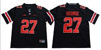 Ohio State Buckeyes #27 Eddie George Blackout Limited Stitched NCAA Jersey