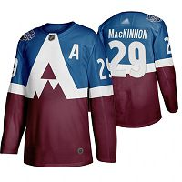 Colorado Avalanche #29 Nathan MacKinnon Blue/Burgundy Authentic 2019 Stadium Series Stitched NHL Jersey