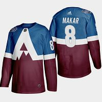 Colorado Avalanche #8 Cale Makar Blue/Burgundy Authentic 2019 Stadium Series Stitched NHL Jersey