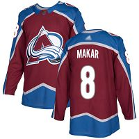 Colorado Avalanche #8 Cale Makar Burgundy Home Authentic Stitched NHL Jersey
