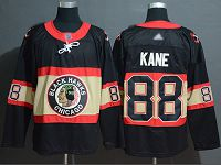 Chicago Blackhawks #88 Patrick Kane Black Throwback Authentic Stitched NHL Jersey