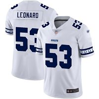 Indianapolis Colts #53 Darius Leonard White Men's Stitched NFL Limited Team Logo Fashion Jersey