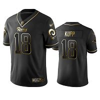 Los Angeles Rams #18 Cooper Kupp Black Men's Stitched NFL Limited Golden Edition Jersey