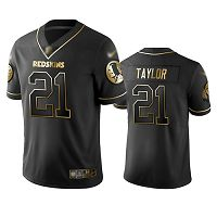 Washington Redskins #21 Sean Taylor Black Men's Stitched NFL Limited Golden Edition Jersey
