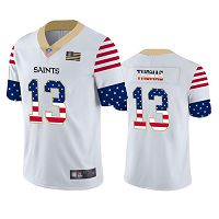New Orleans Saints #13 Michael Thomas White Men's Stitched NFL Limited Independence Day Jersey