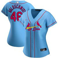 Women's Nike St. Louis Cardinals #46 Paul Goldschmidt Light Blue Alternate 2020 Player Jersey