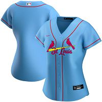 Women's Nike St. Louis Cardinals Blank Light Blue Alternate 2020 MLB Jersey