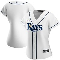Women's Nike Tampa Bay Rays Blank White Home 2020 MLB Jersey
