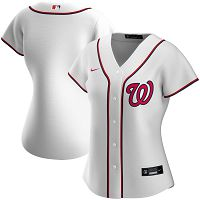 Women's Nike Washington Nationals Blank White Home 2020 MLB Jersey