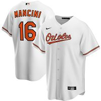 Men's Nike Baltimore Orioles #16 Trey Mancini White Home 2020 MLB Jersey