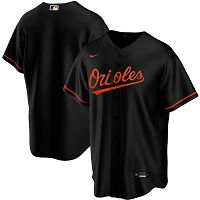 Men's Nike Baltimore Orioles Blank Black Alternate 2020 MLB Jersey