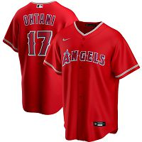 Men's Nike Los Angeles Angels #17 Shohei Ohtani Red Alternate 2020 MLB Jersey