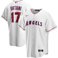 Men's Nike Los Angeles Angels #17 Shohei Ohtani White Home 2020 MLB Jersey