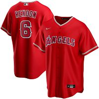 Men's Nike Los Angeles Angels #6 Anthony Rendon Red Alternate 2020 MLB Jersey