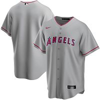 Men's Nike Los Angeles Angels Blank Gray Road 2020 MLB Jersey