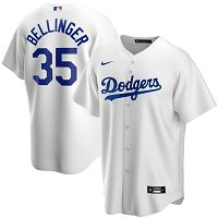 Men's Nike Los Angeles Dodgers #35 Cody Bellinger White Home 2020 MLB Jersey