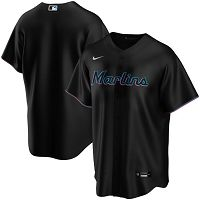 Men's Nike Miami Marlins Blank Black Alternate 2020 MLB Jersey