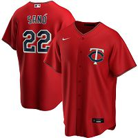 Men's Nike Minnesota Twins #22 Miguel Sano Red Alternate 2020 MLB Jersey