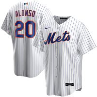 Men's Nike New York Mets #20 Pete Alonso White Home 2020 MLB Jersey