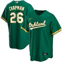 Men's Nike Oakland Athletics #26 Matt Chapman Kelly Green Alternate 2020 MLB Jersey