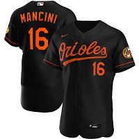 Men's Nike Baltimore Orioles #16 Trey Mancini Black Alternate 2020 Authentic Player MLB Jersey