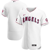 Men's Nike Los Angeles Angels Blank White Home 2020 Authentic Team MLB Jersey