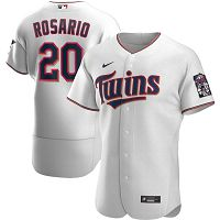 Men's Nike Minnesota Twins #20 Eddie Rosario White Home 2020 Authentic Player MLB Jersey