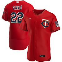 Men's Nike Minnesota Twins #22 Miguel Sano Red Alternate 2020 Authentic Player MLB Jersey